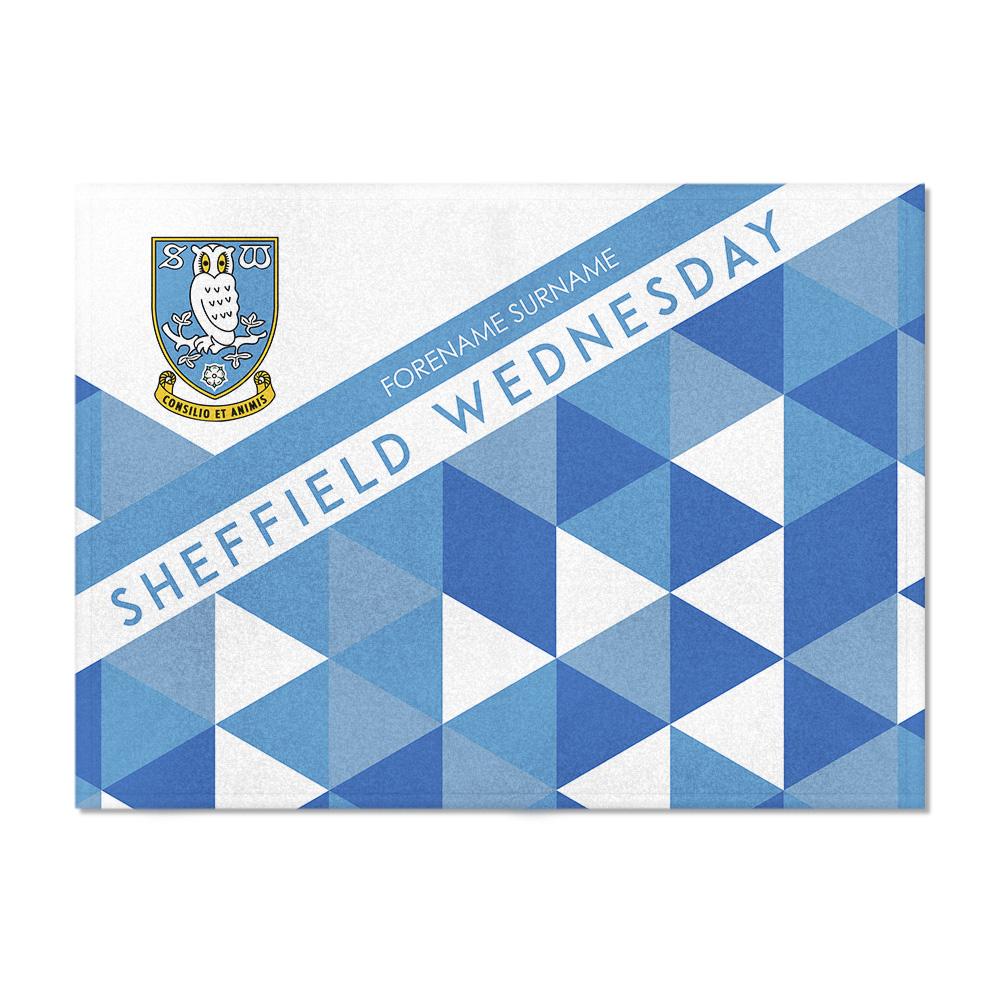 Sheffield Wednesday FC Patterned Blanket (100cm X 75cm)