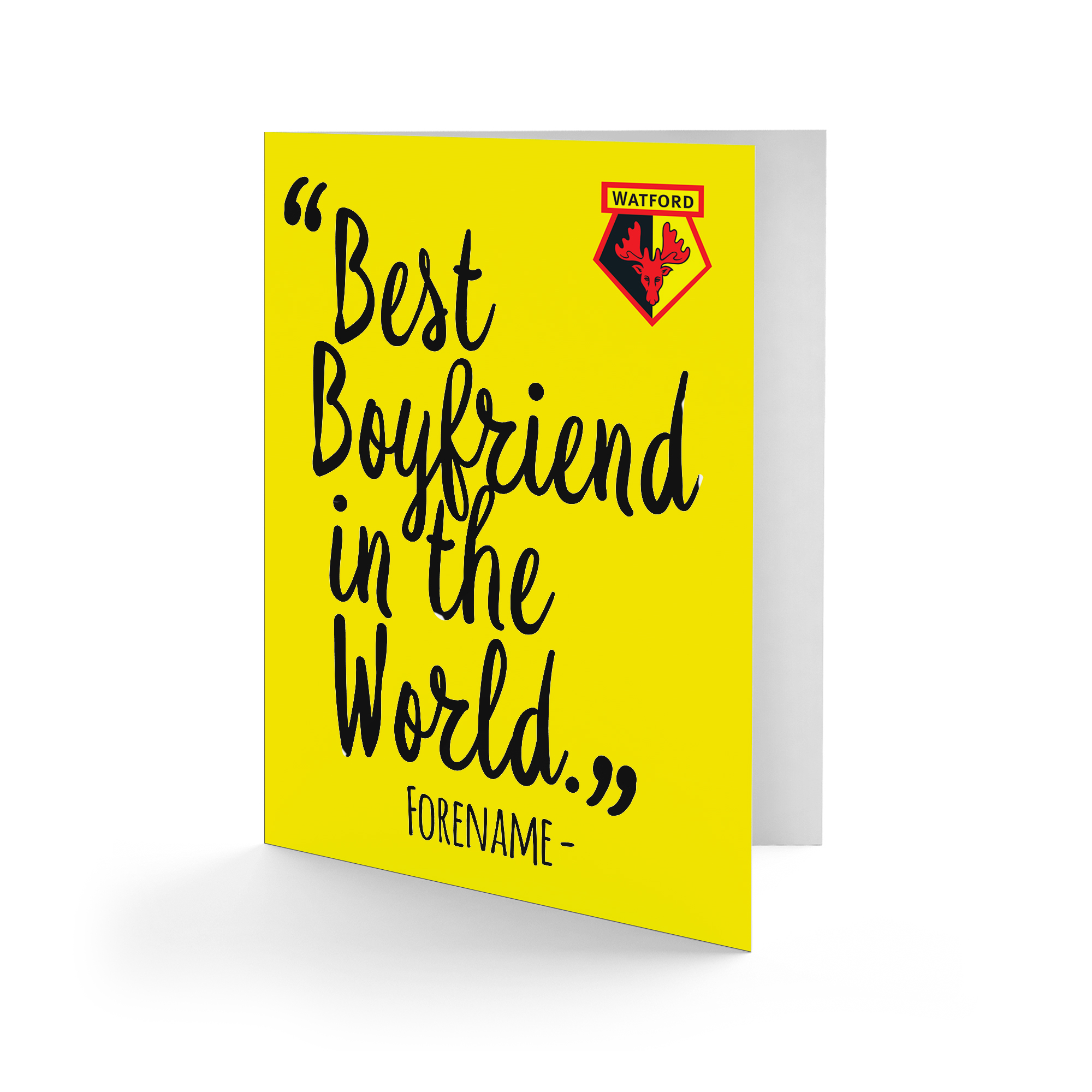 Watford FC Best Boyfriend In The World Card