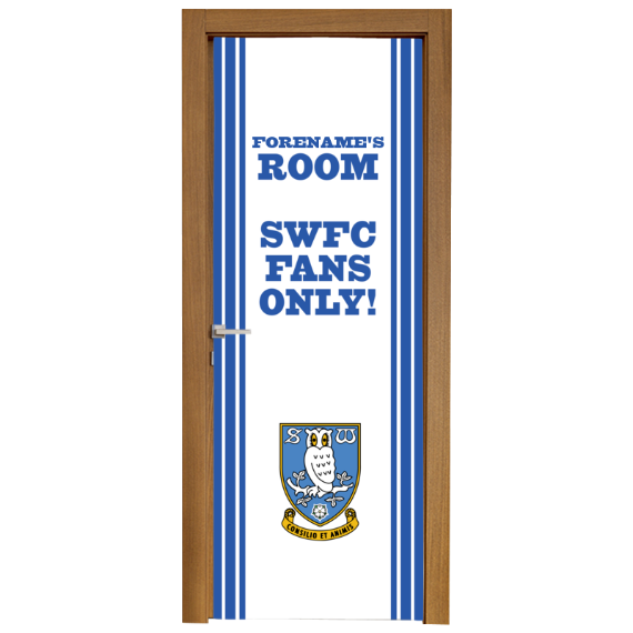 Sheffield Wednesday FC Stripe Door Banner