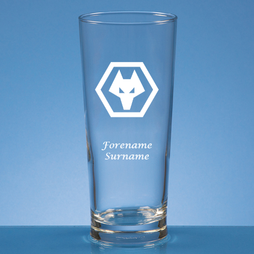 Wolves Crest Straight Sided Beer Glass