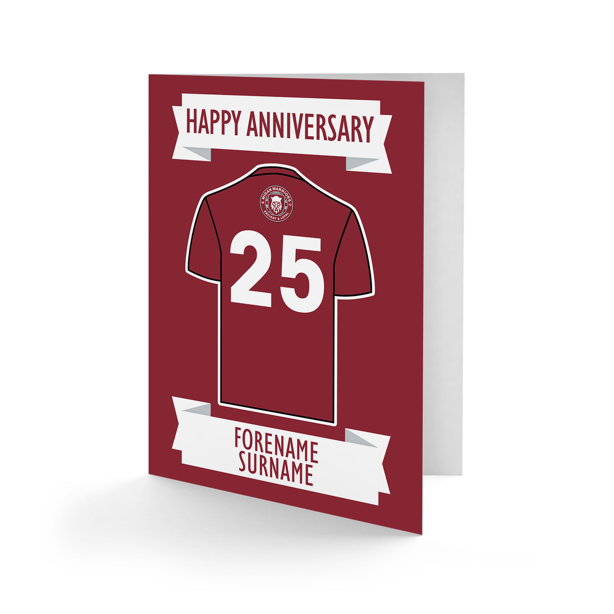 Wigan Warriors Shirt Anniversary Card