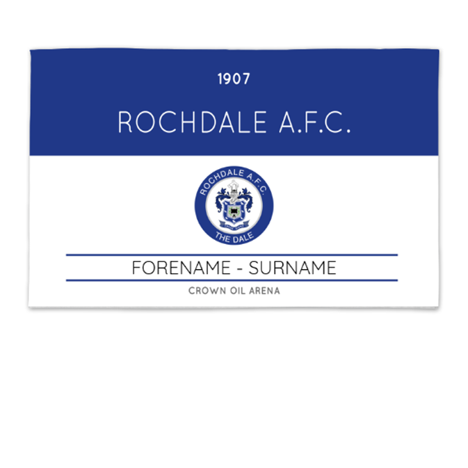 Rochdale AFC Minimal Ticket 8ft x 5ft Banner
