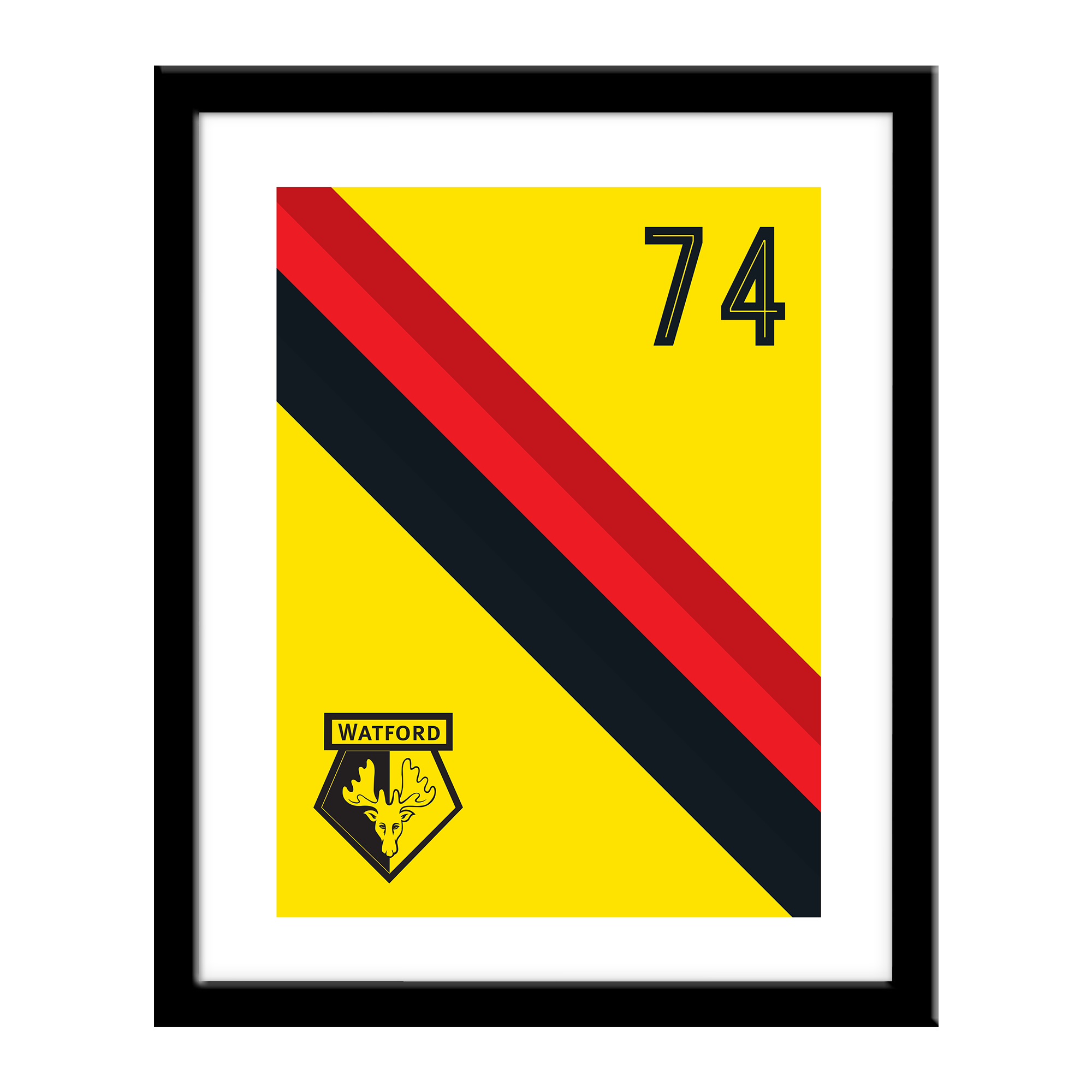 Watford FC Stripe Print