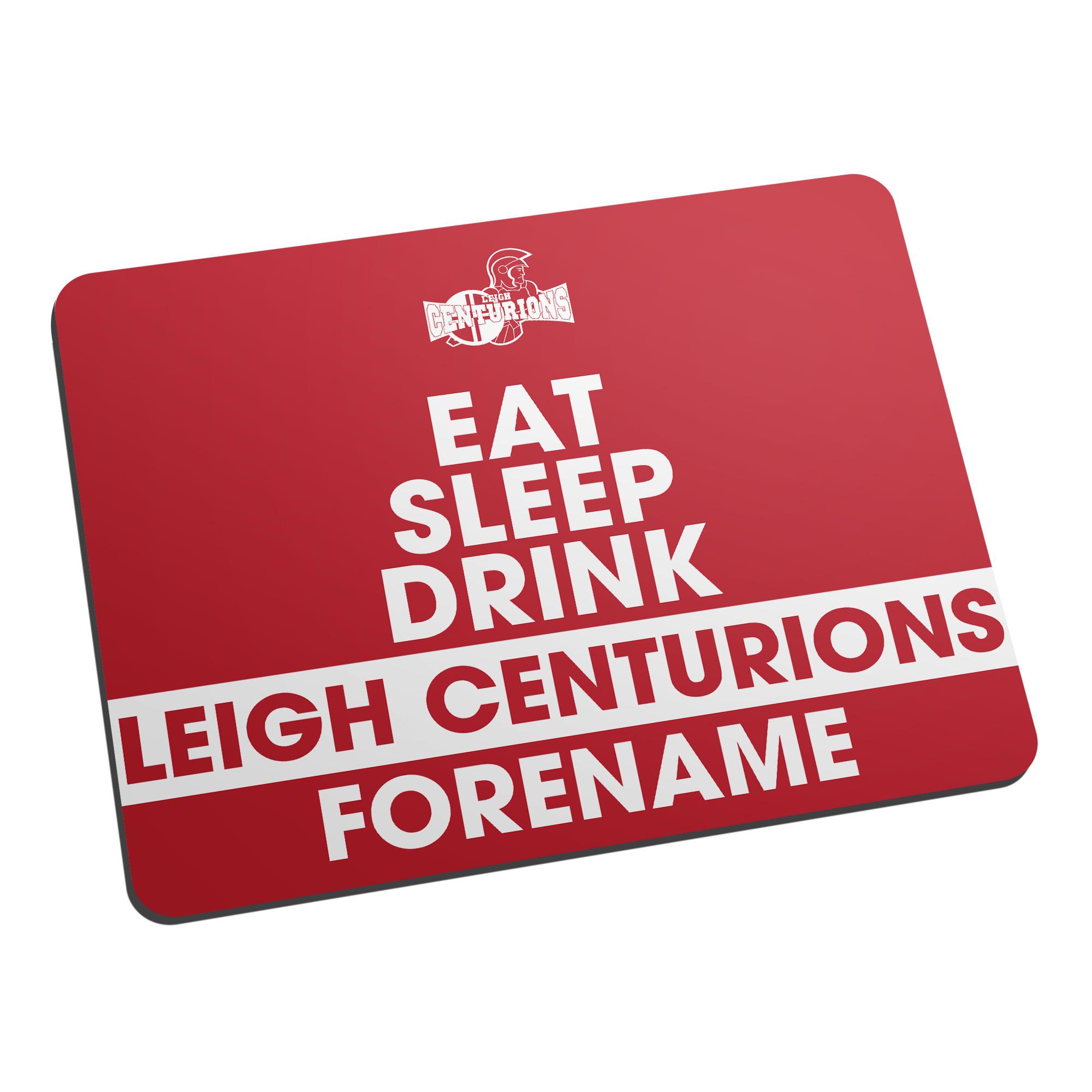 Leigh Centurions Eat Sleep Drink Mouse Mat