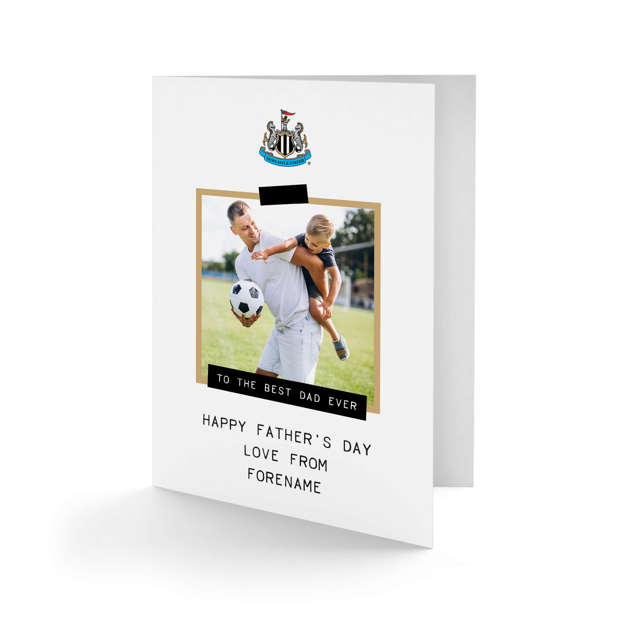 Newcastle United FC Best Dad Ever Photo Upload Father's Day Card