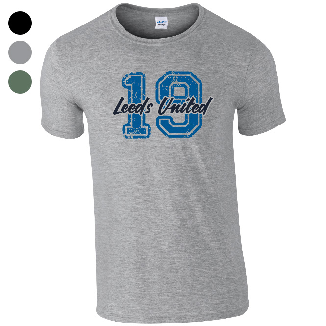 Leeds United FC Varsity Number T-Shirt