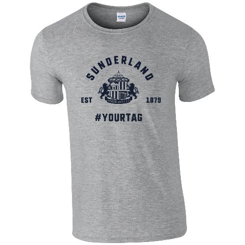 Sunderland AFC Vintage Hashtag T-Shirt