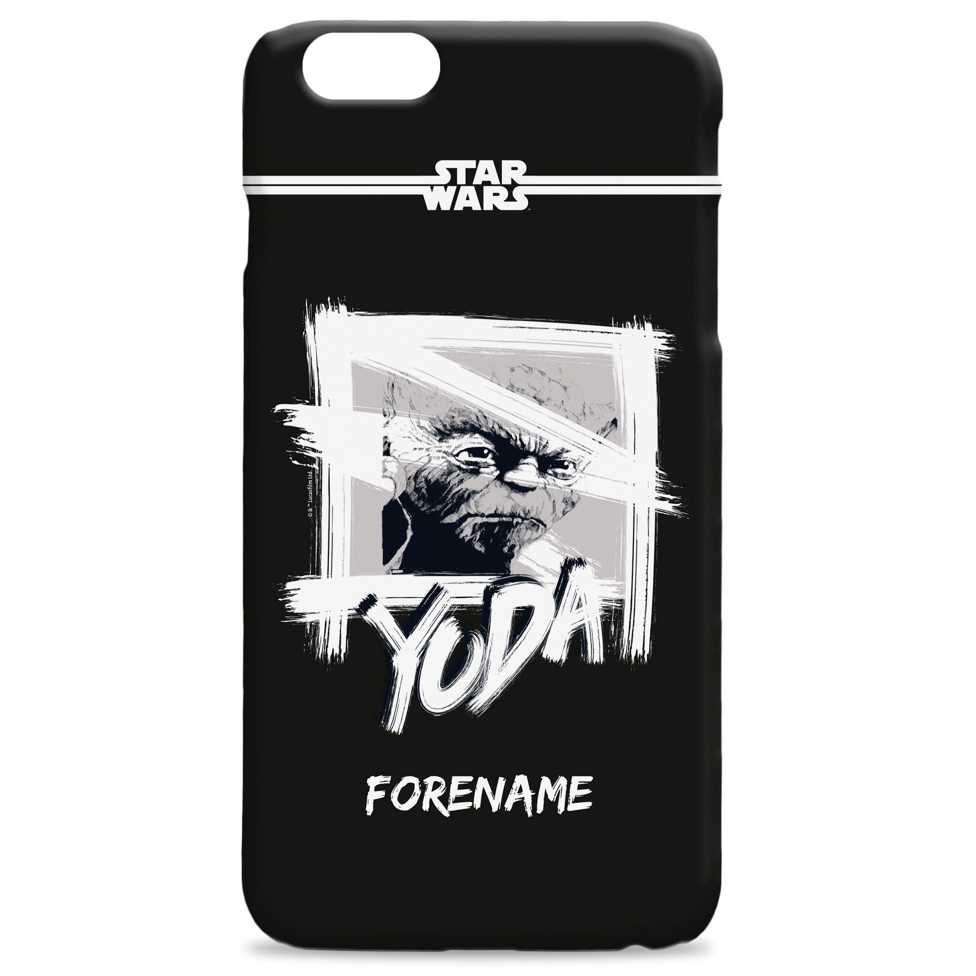 Star Wars Yoda Paint iPhone Phone Case