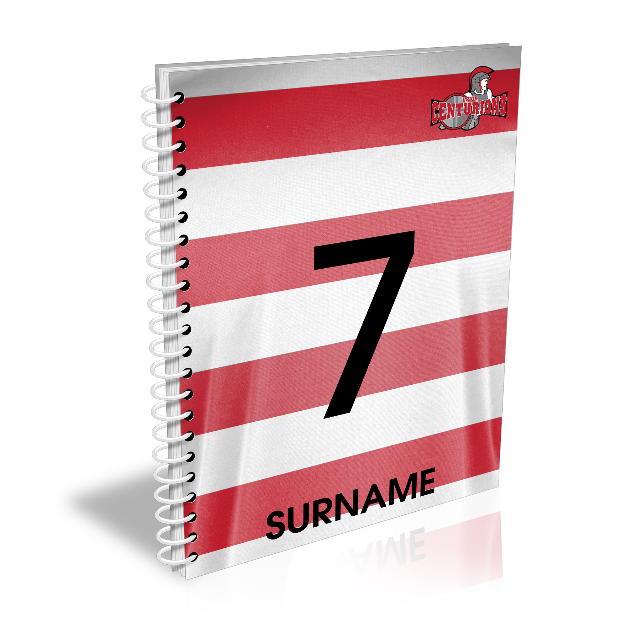 Leigh Centurions Shirt Notebook