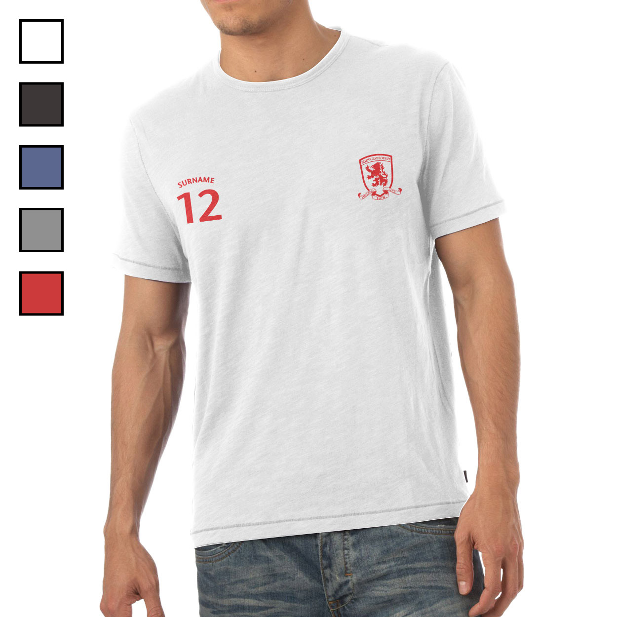 Middlesbrough FC Mens Sports T-Shirt