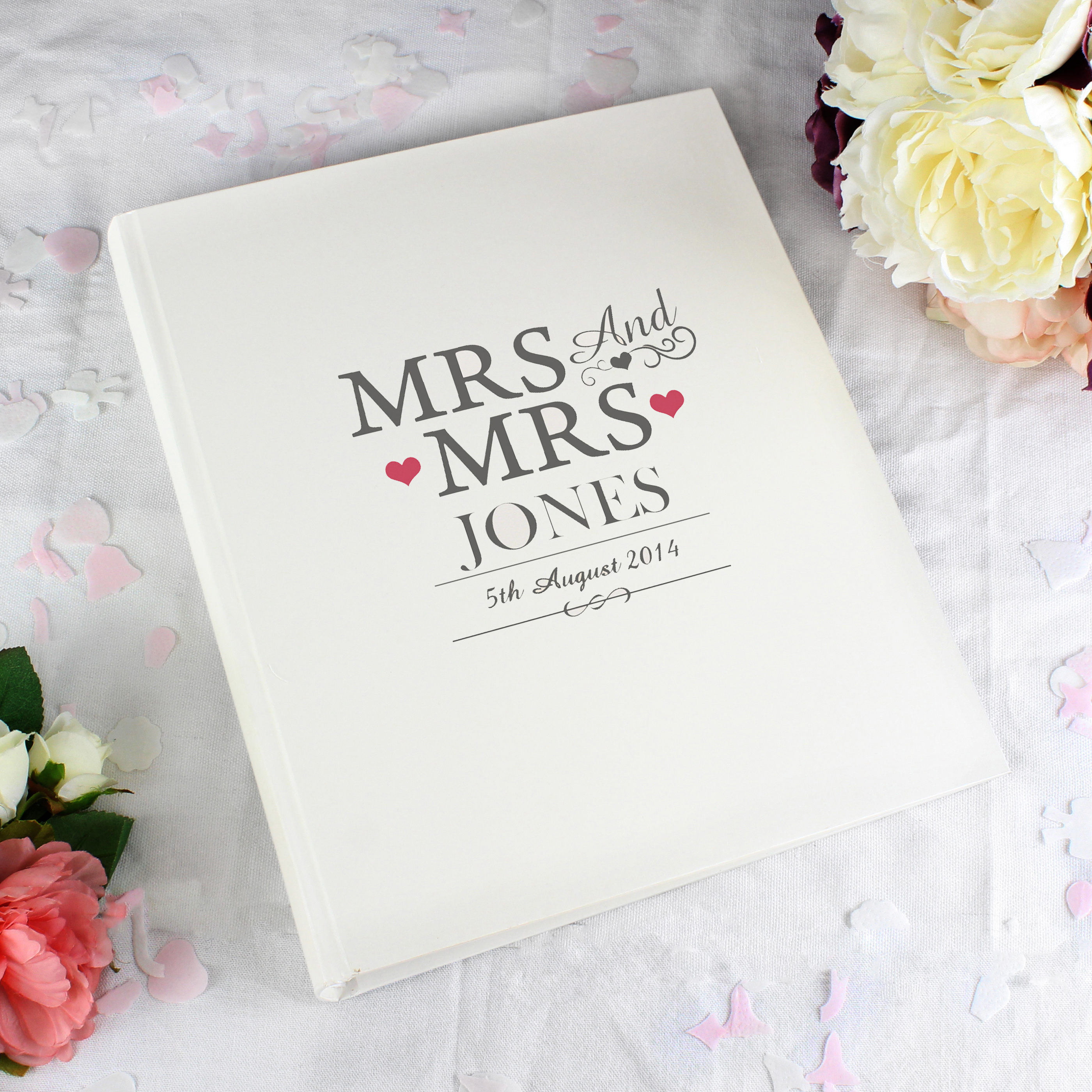 Personalised Mrs and Mrs Traditional Album