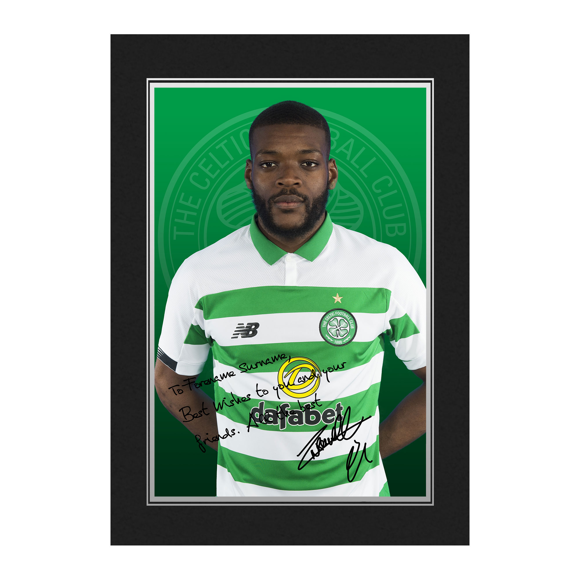 Celtic FC Ntcham Autograph Photo Folder