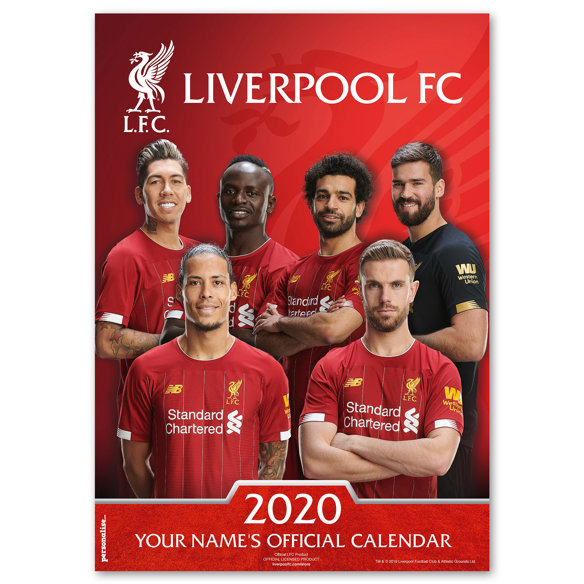Liverpool Official Personalised Calendar