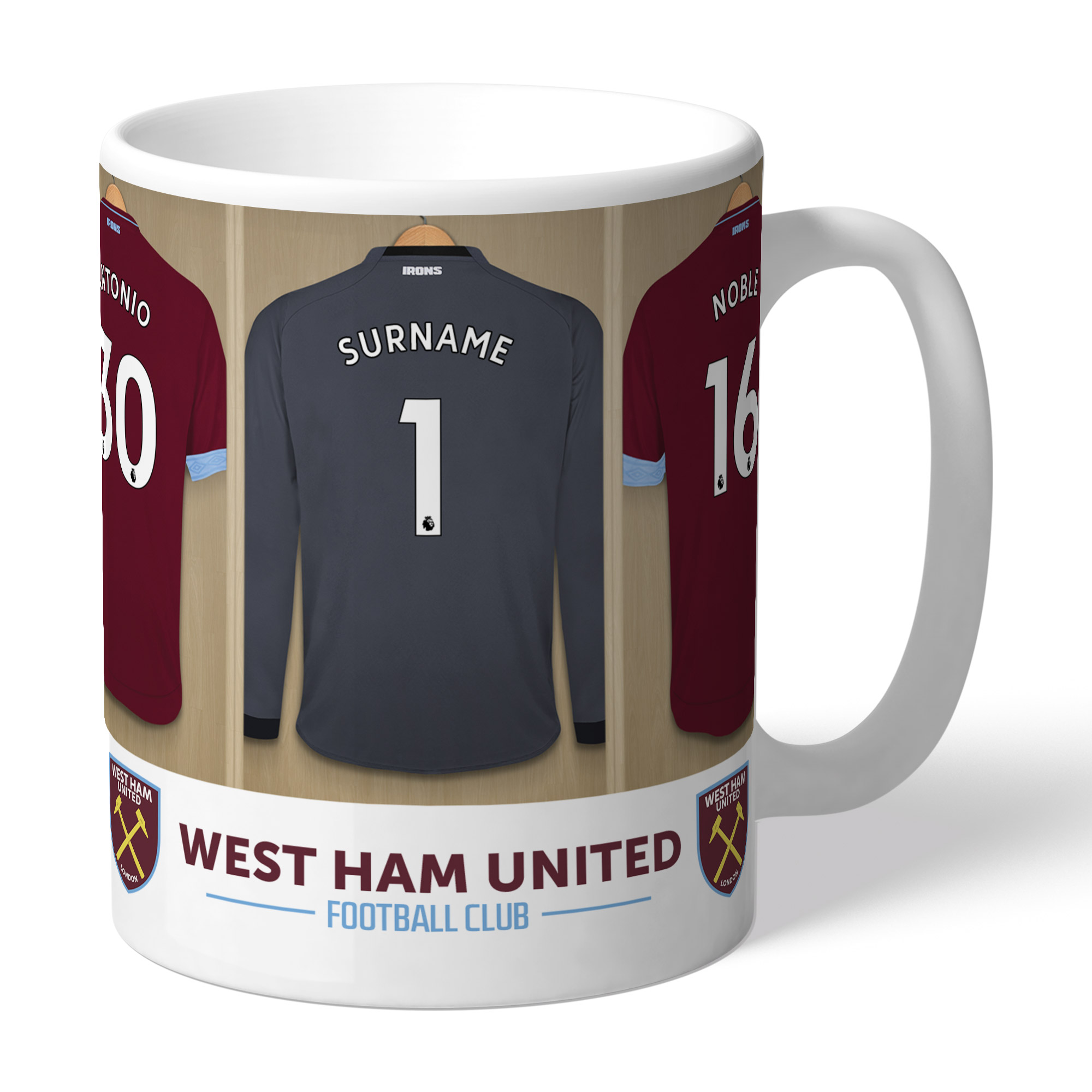 West Ham United FC Goalkeeper Dressing Room Mug