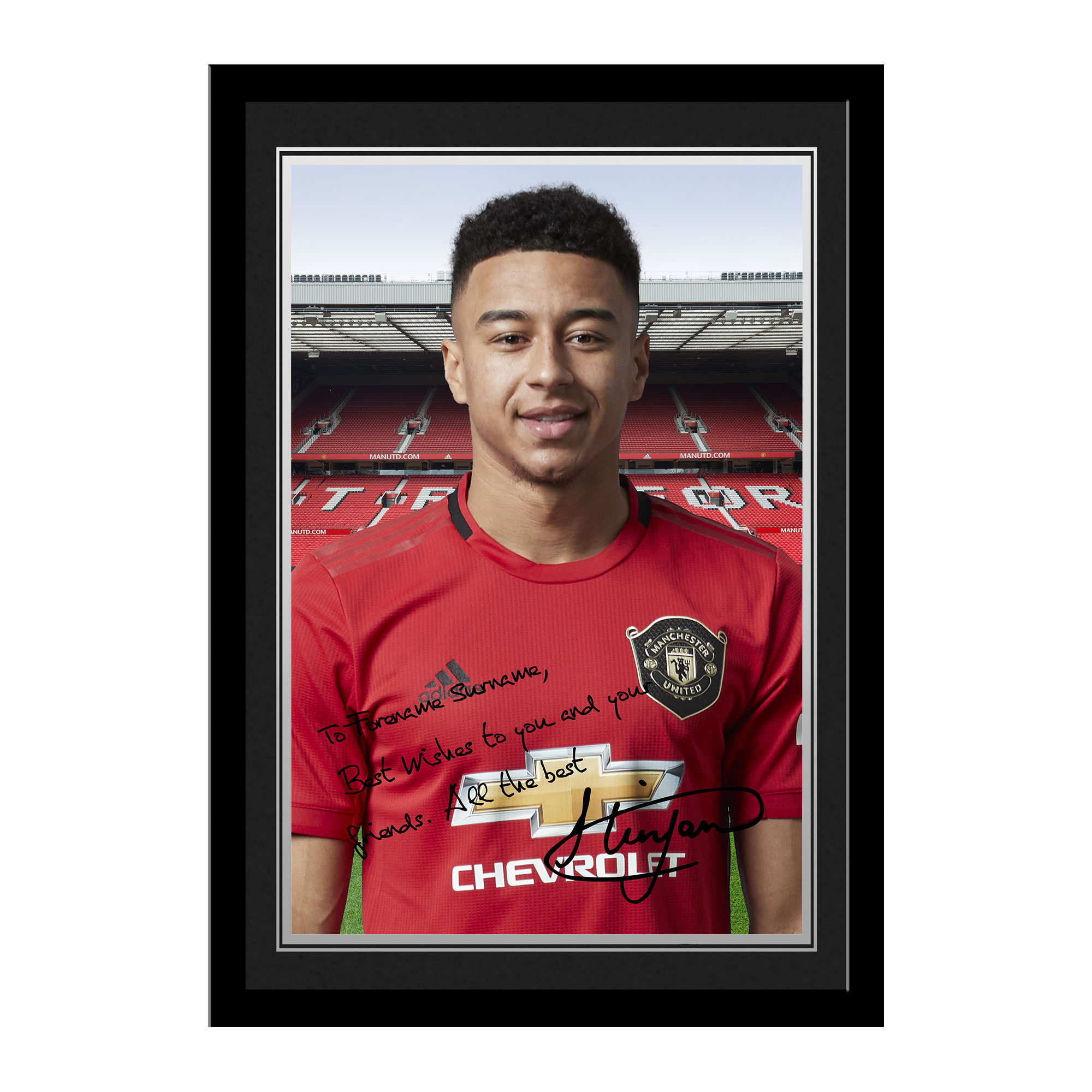 Manchester United FC Lingard Autograph Photo Framed