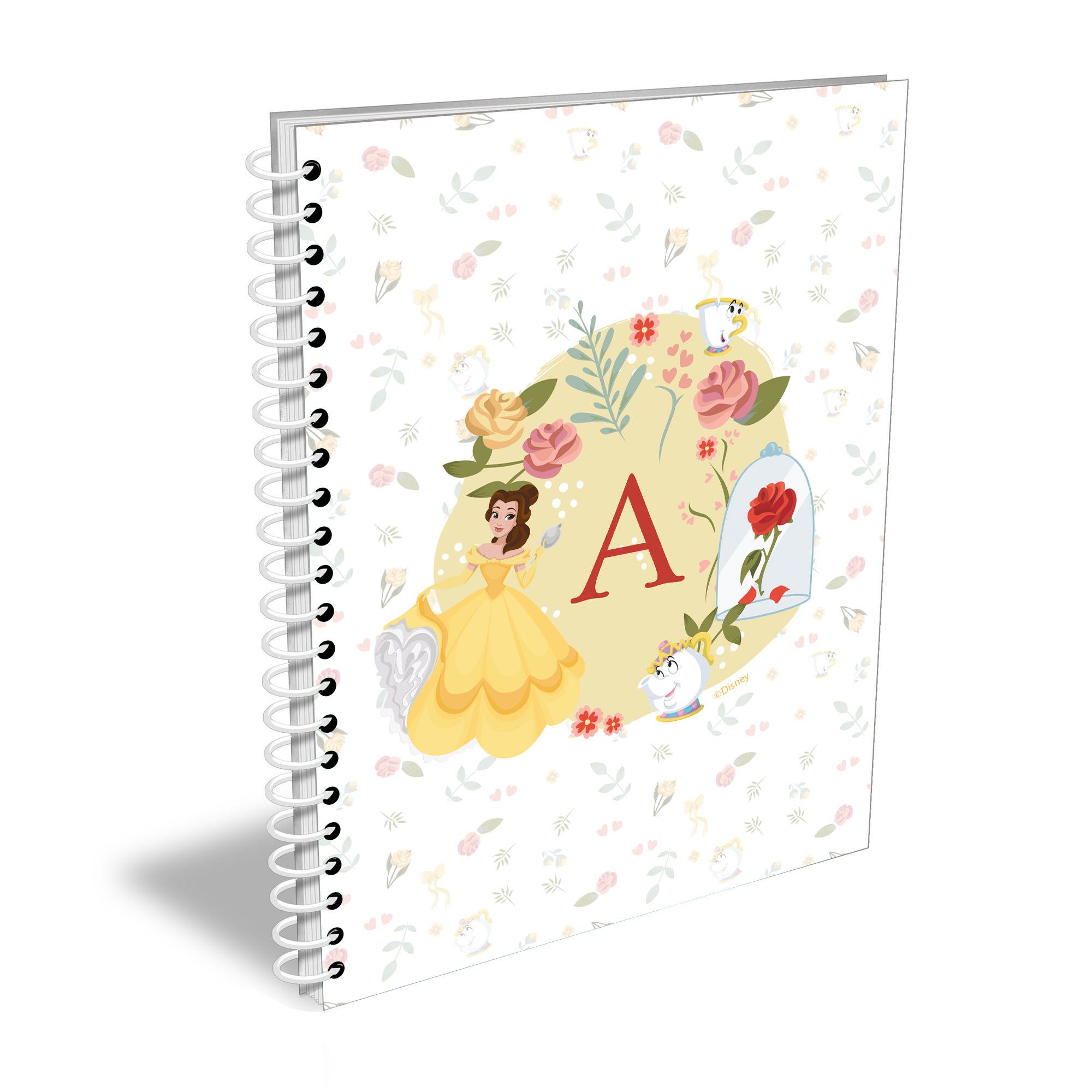 Disney Princess Belle Initial A5 Notebook