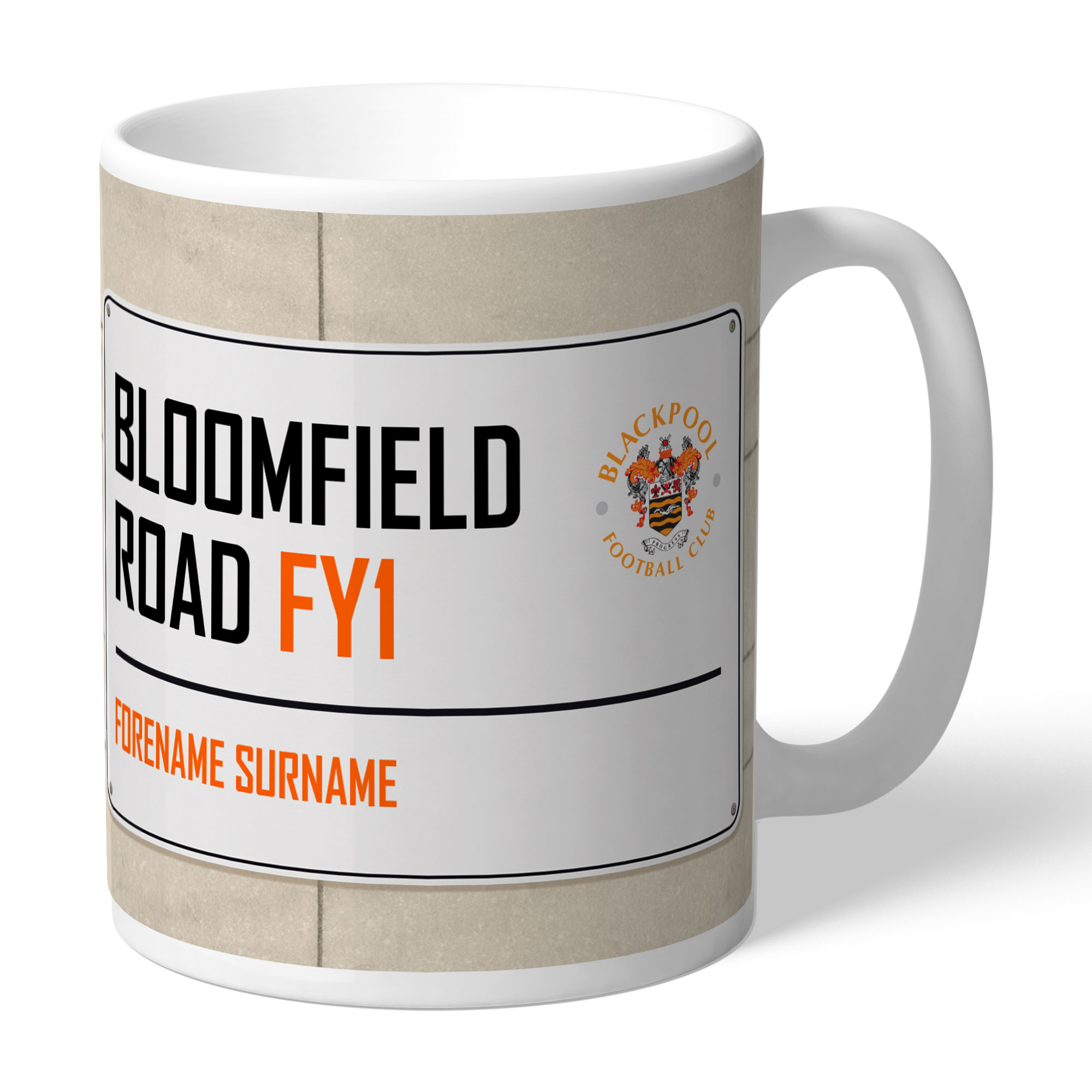 Blackpool FC Street Sign Mug
