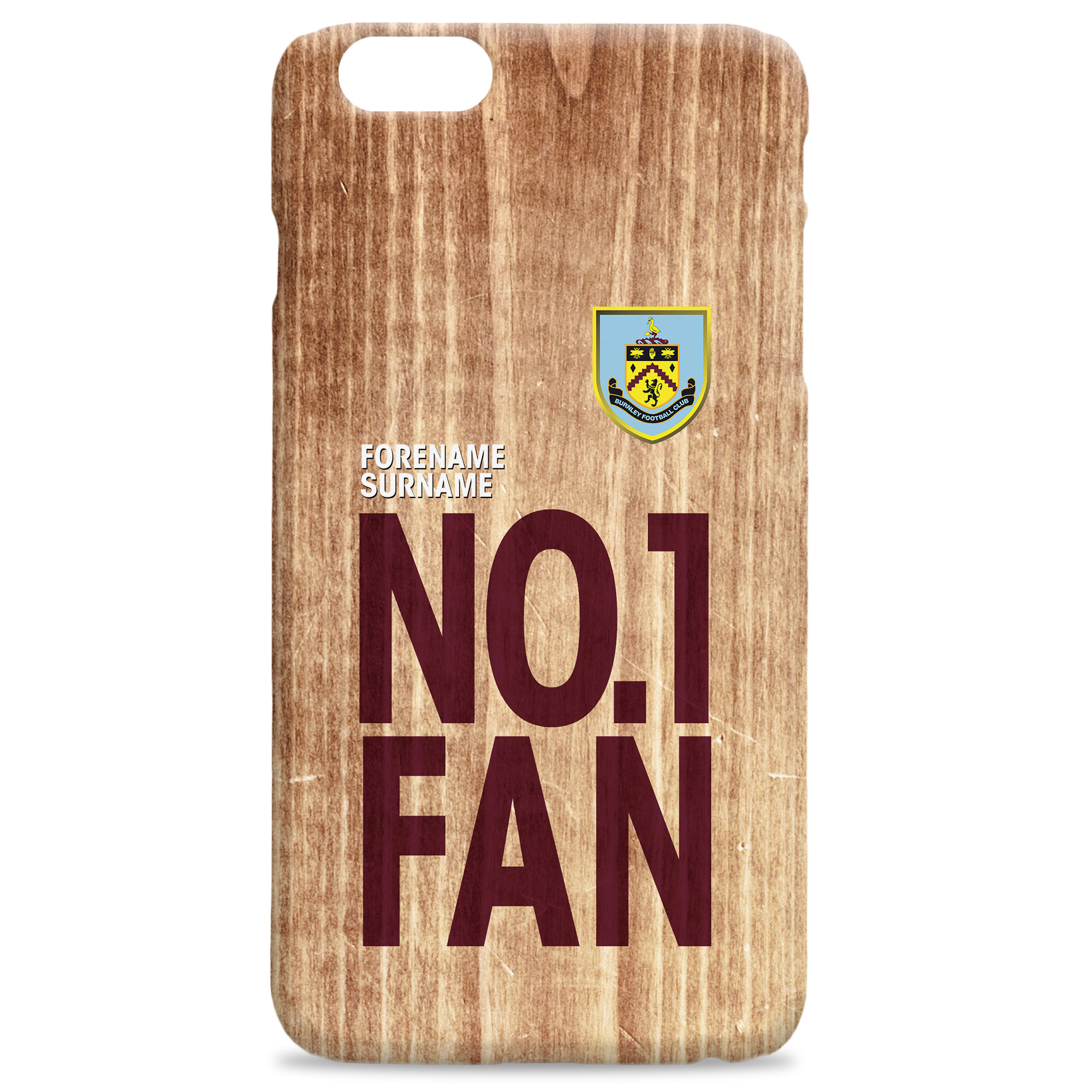 Burnley FC No 1 Fan Hard Back Phone Case