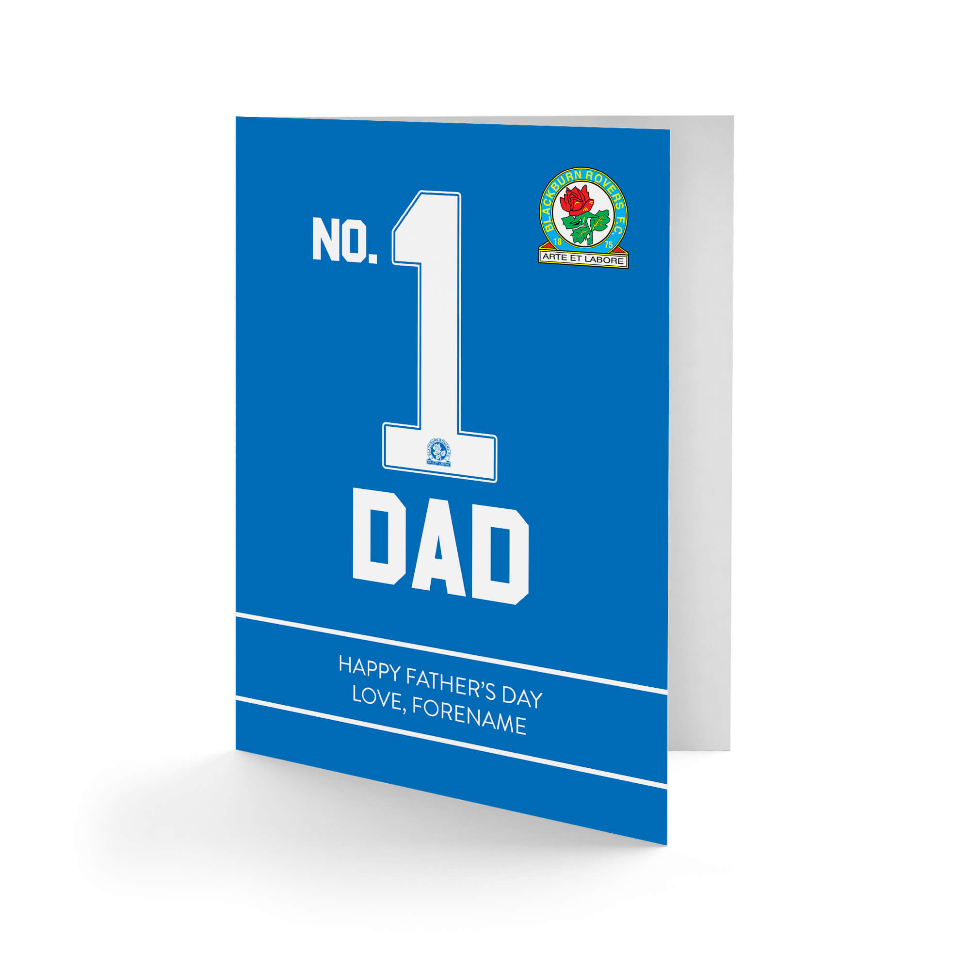 Blackburn Rovers FC No.1 Dad Father's Day Card