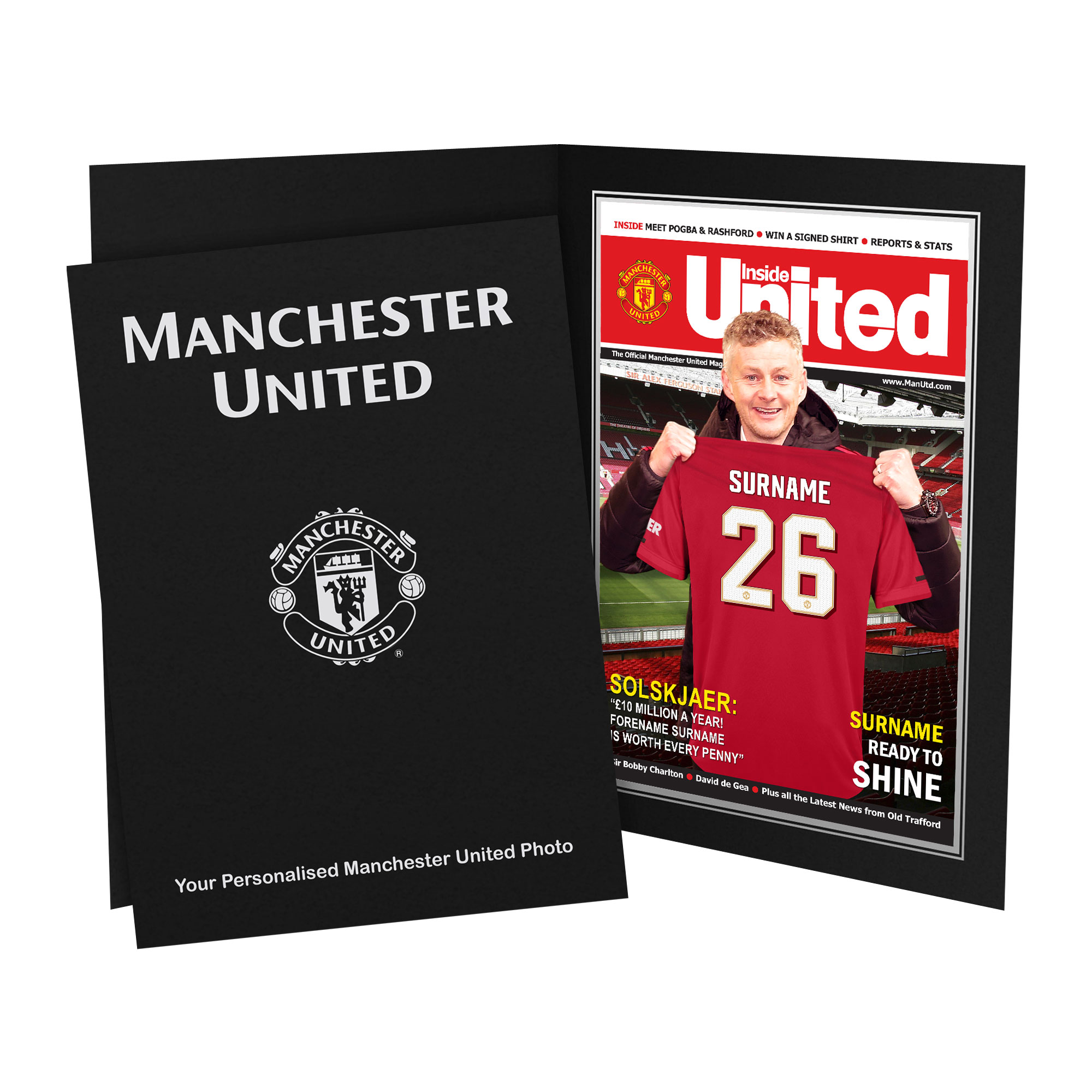 Manchester United FC Magazine Front Cover Photo Folder