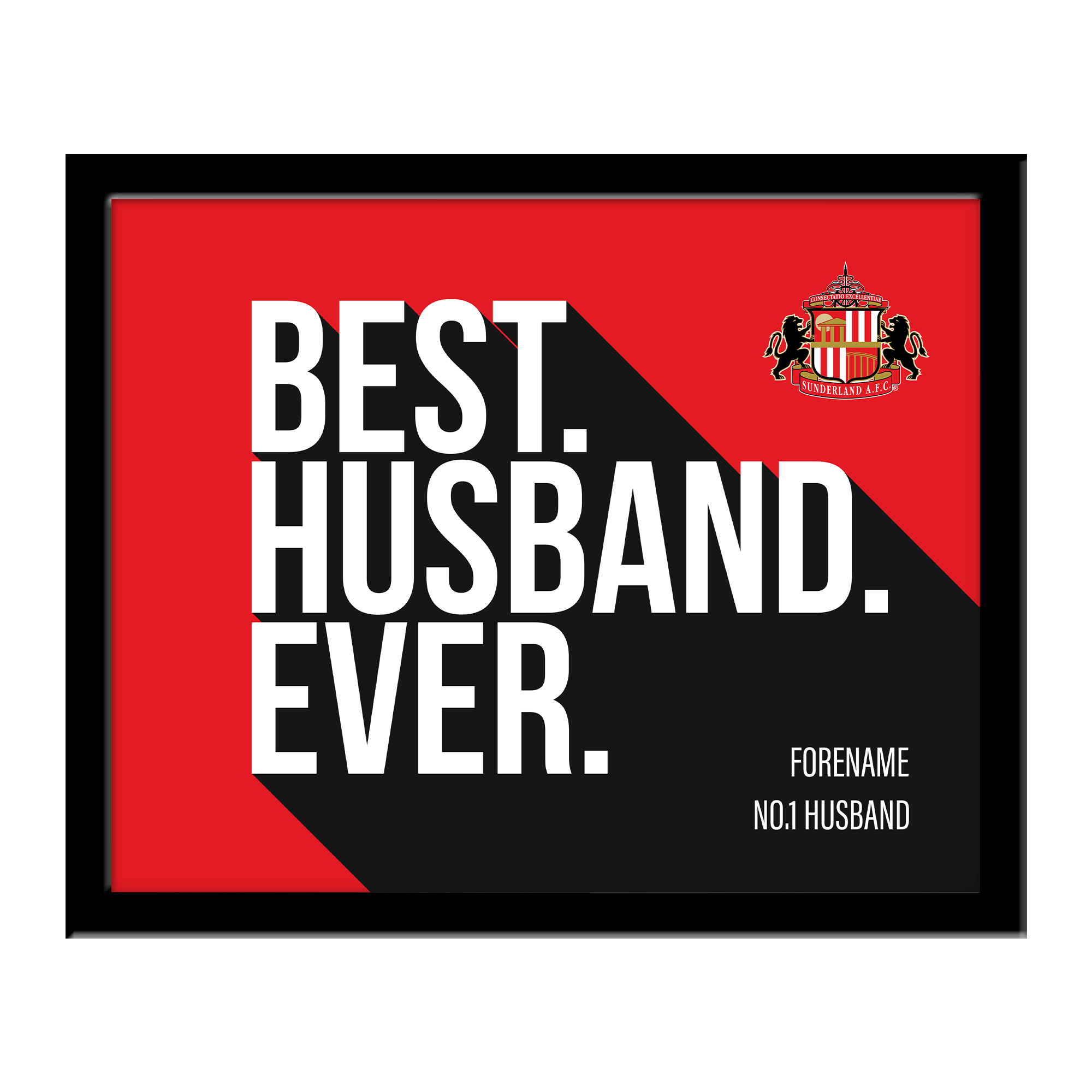 Sunderland Best Husband Ever 10 x 8 Photo Framed