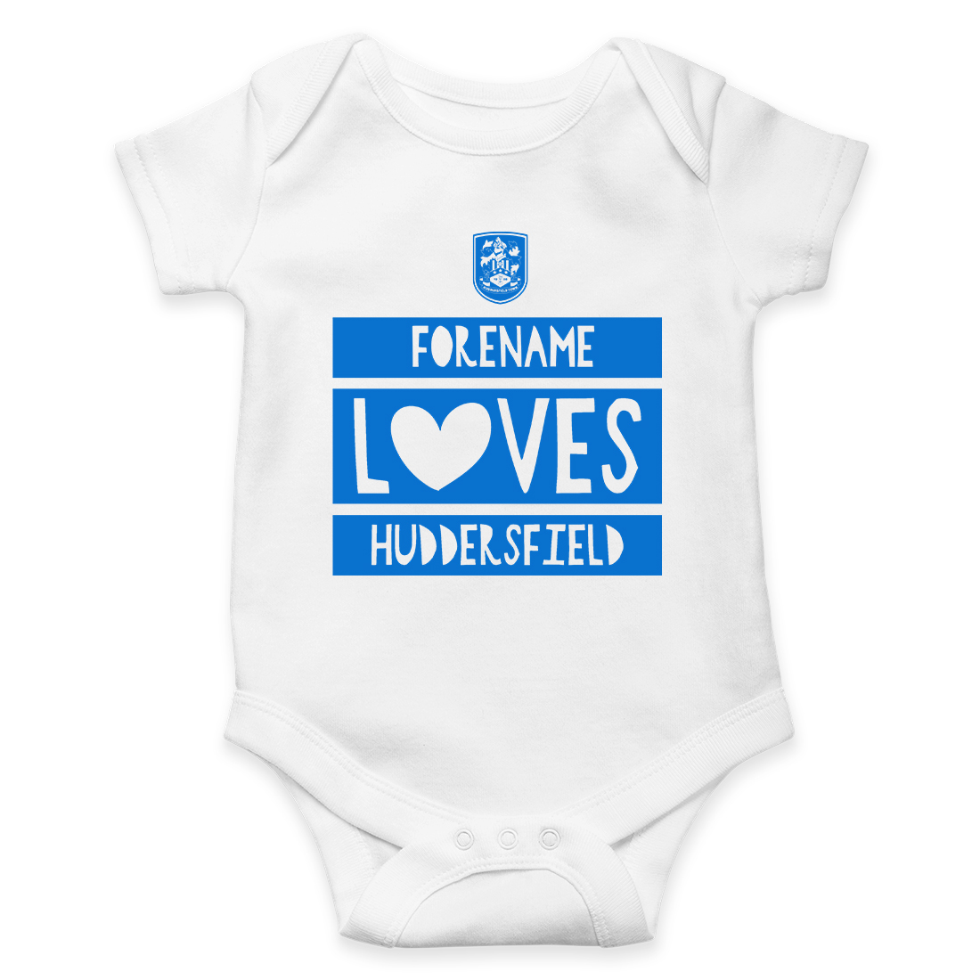 Huddersfield Town AFC Loves Baby Bodysuit