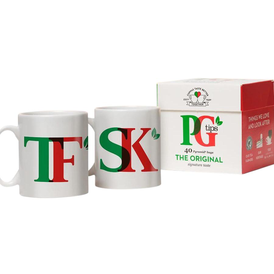 PG Tips personalised Dual Mug & Tea Set