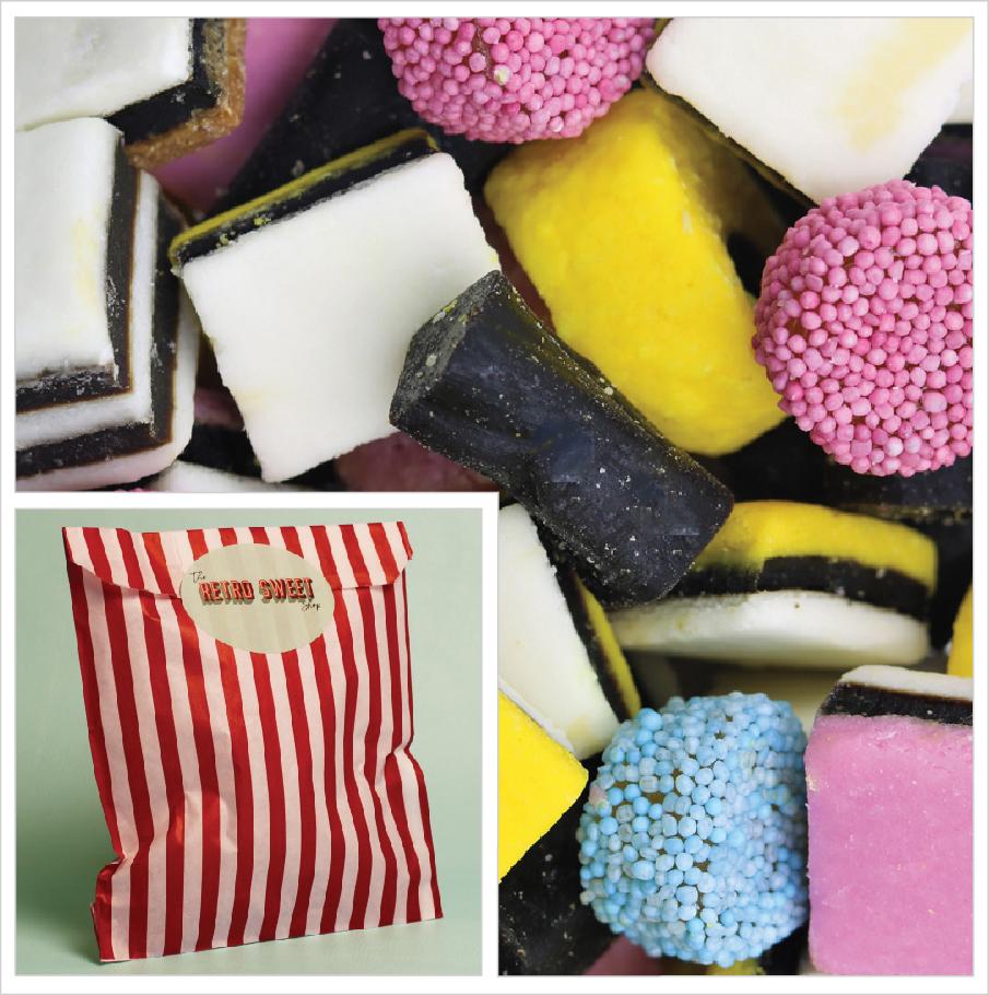 Liquorice Allsorts Sweet Bag