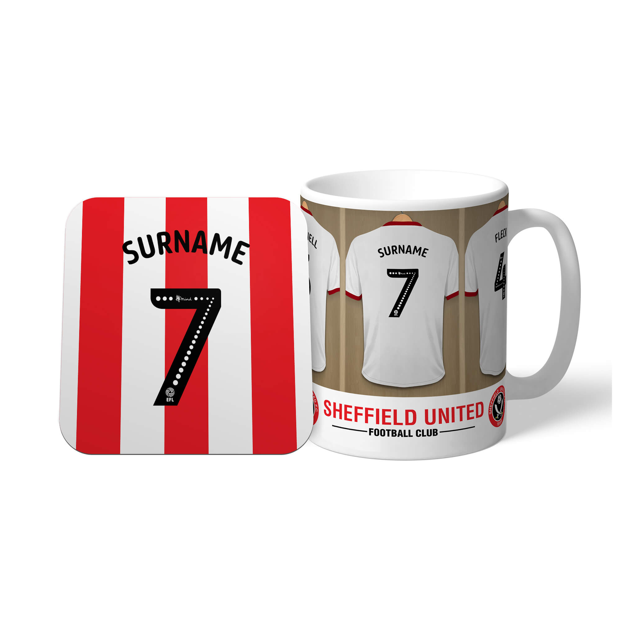Sheffield United FC Dressing Room Mug & Coaster Set