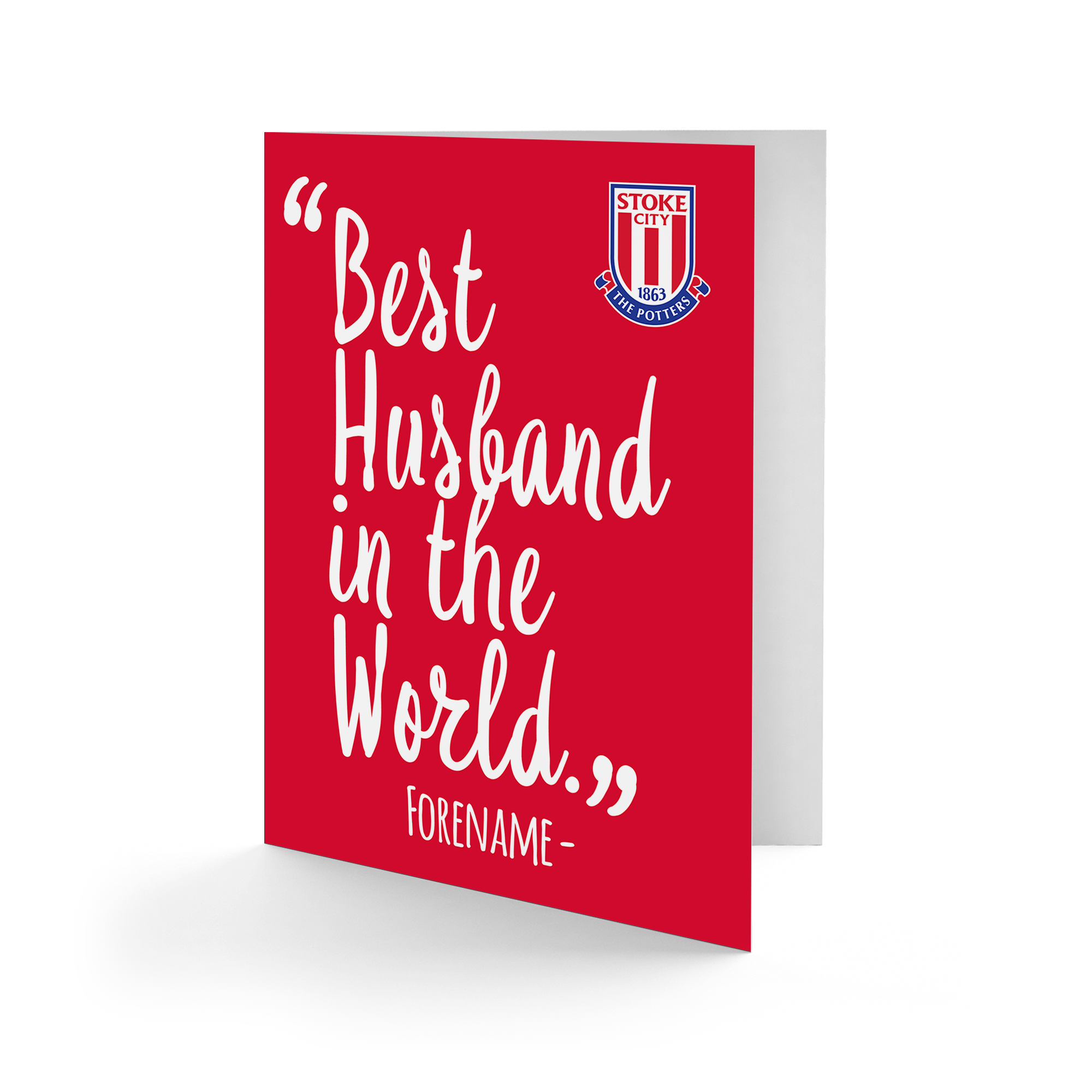 Stoke City FC Best Husband In The World Card