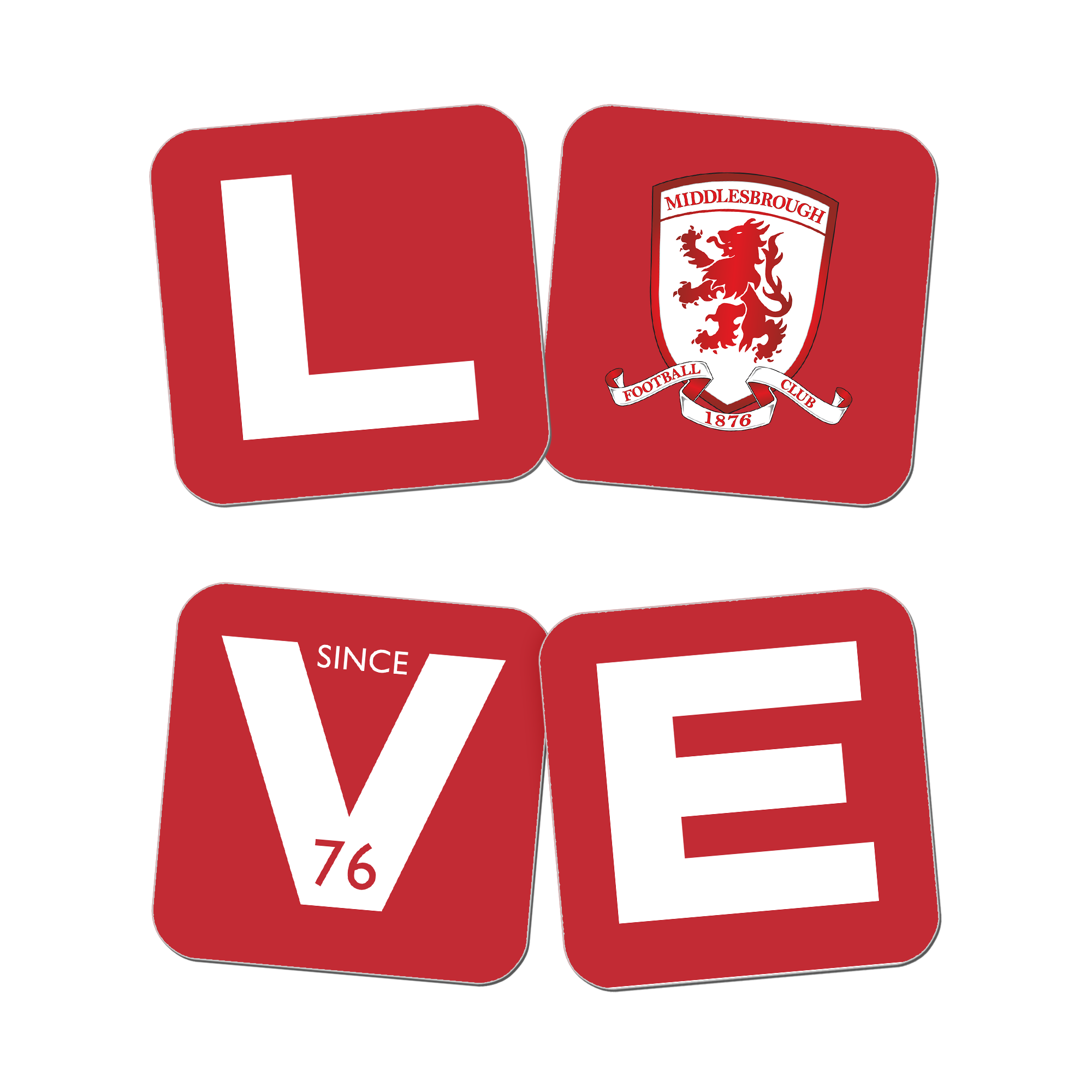 Middlesbrough Love Coasters (x4)