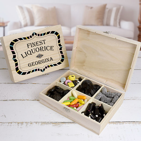 Finest Liquorice Wooden Sweet Box