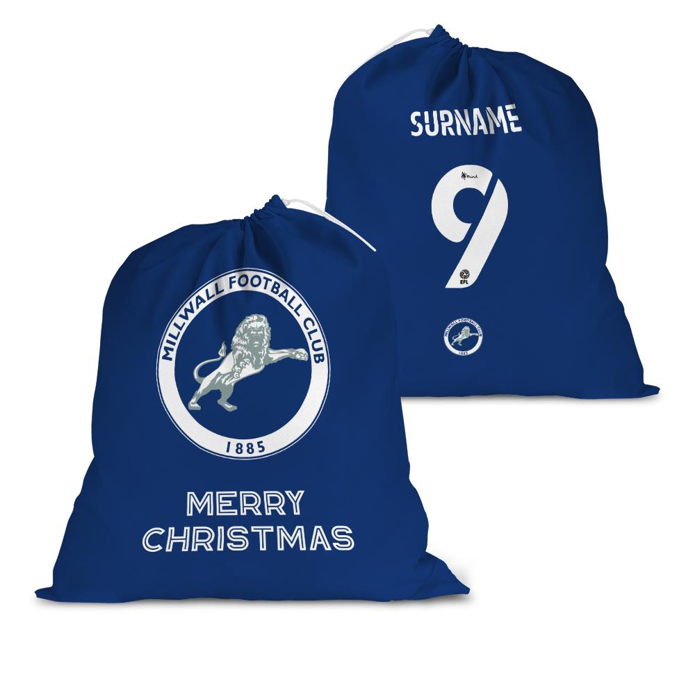 Millwall FC Back of Shirt Santa Sack