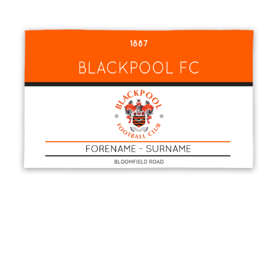Blackpool Minimal Ticket 5ft x 3ft Banner