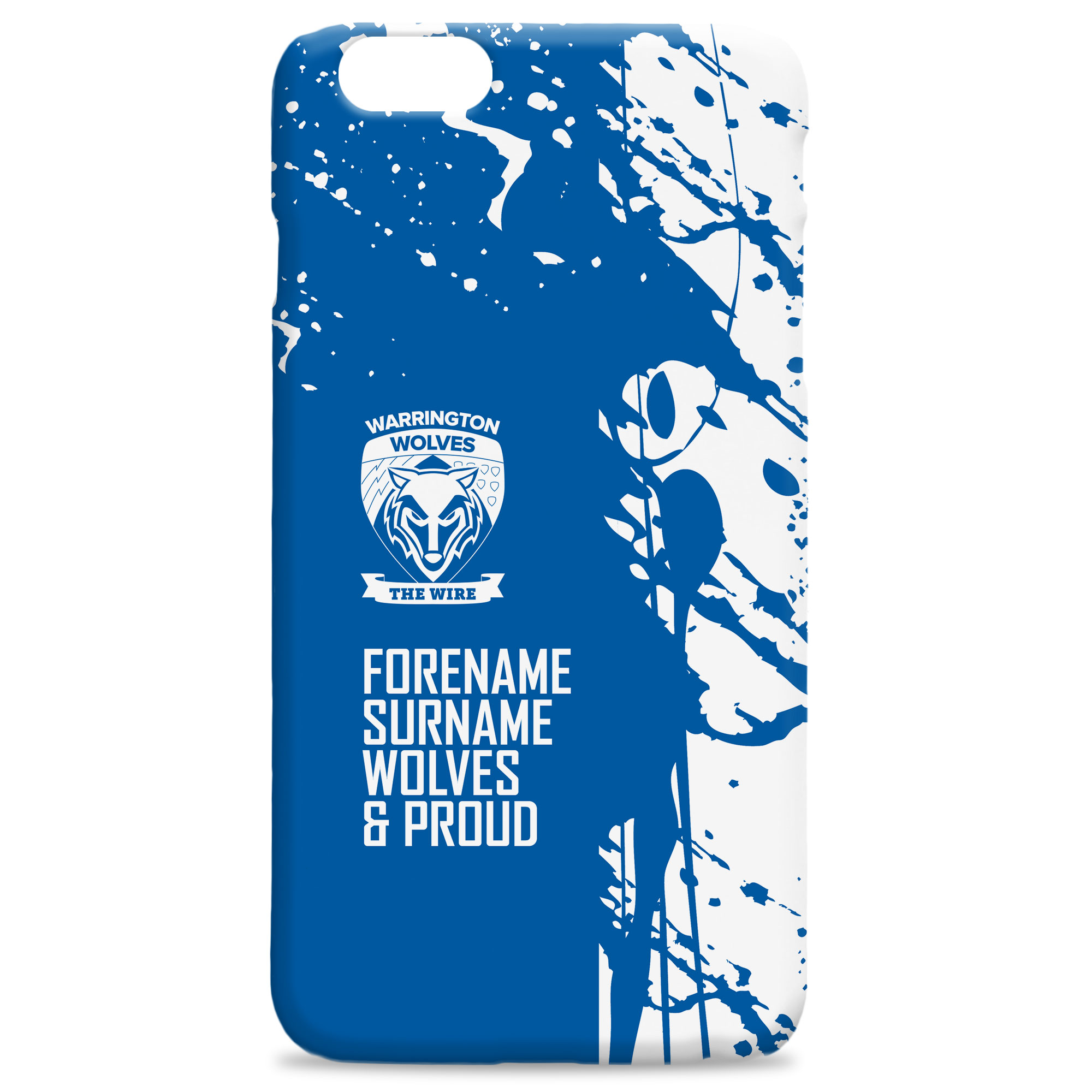 Warrington Wolves Proud Hard Back Phone Case