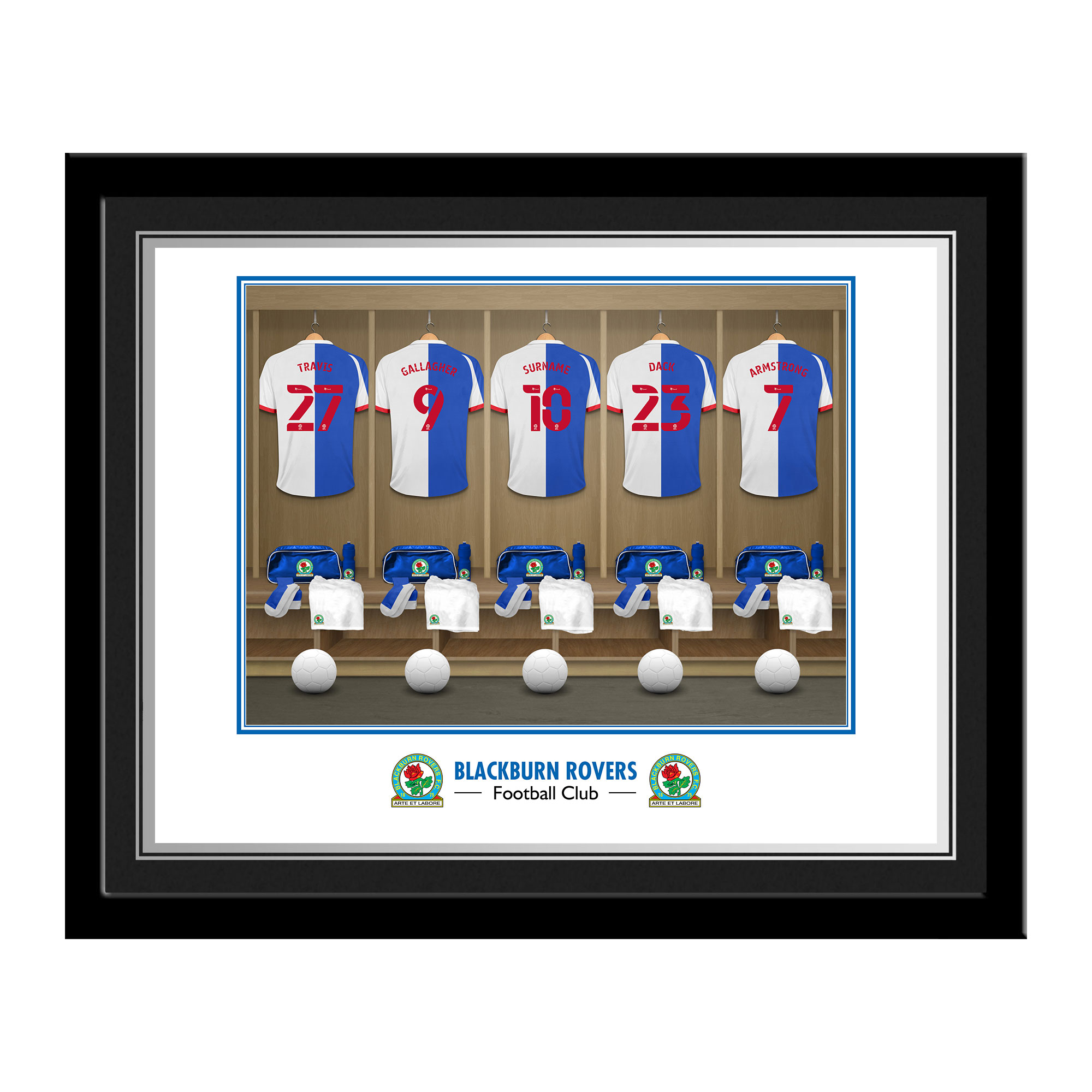 Blackburn Rovers FC Dressing Room Photo Framed