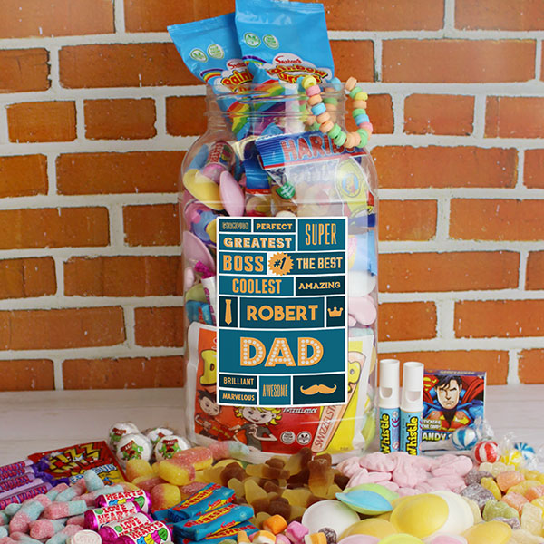 Best Dad - Retro Sweet Large Jar