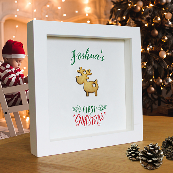 My First Christmas Print Lifestyle Image in a White Frame