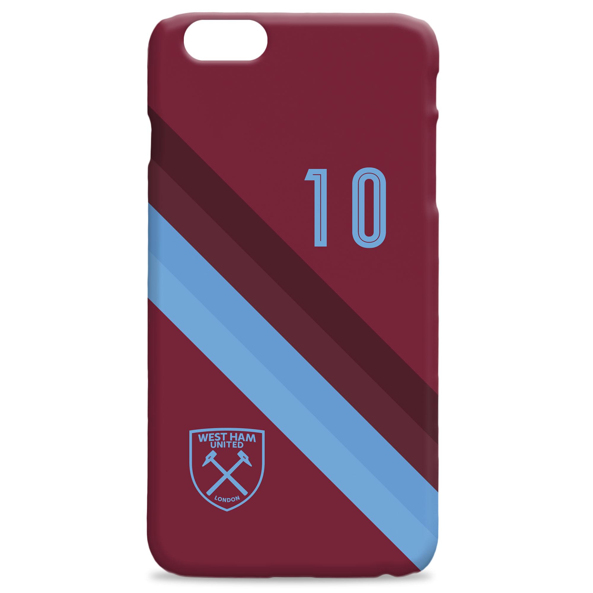 West Ham Stripe Hard Back Phone Case