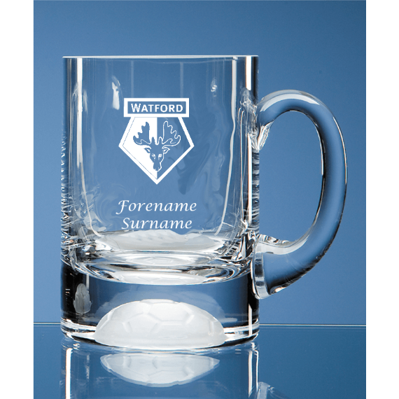 Watford FC Personalised Crest Ball Base Tankard