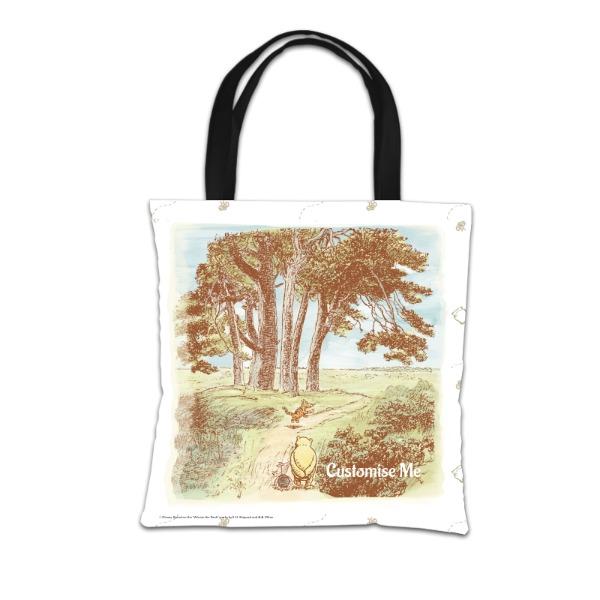 Disney Winnie The Pooh Woodland Scene Tote Bag