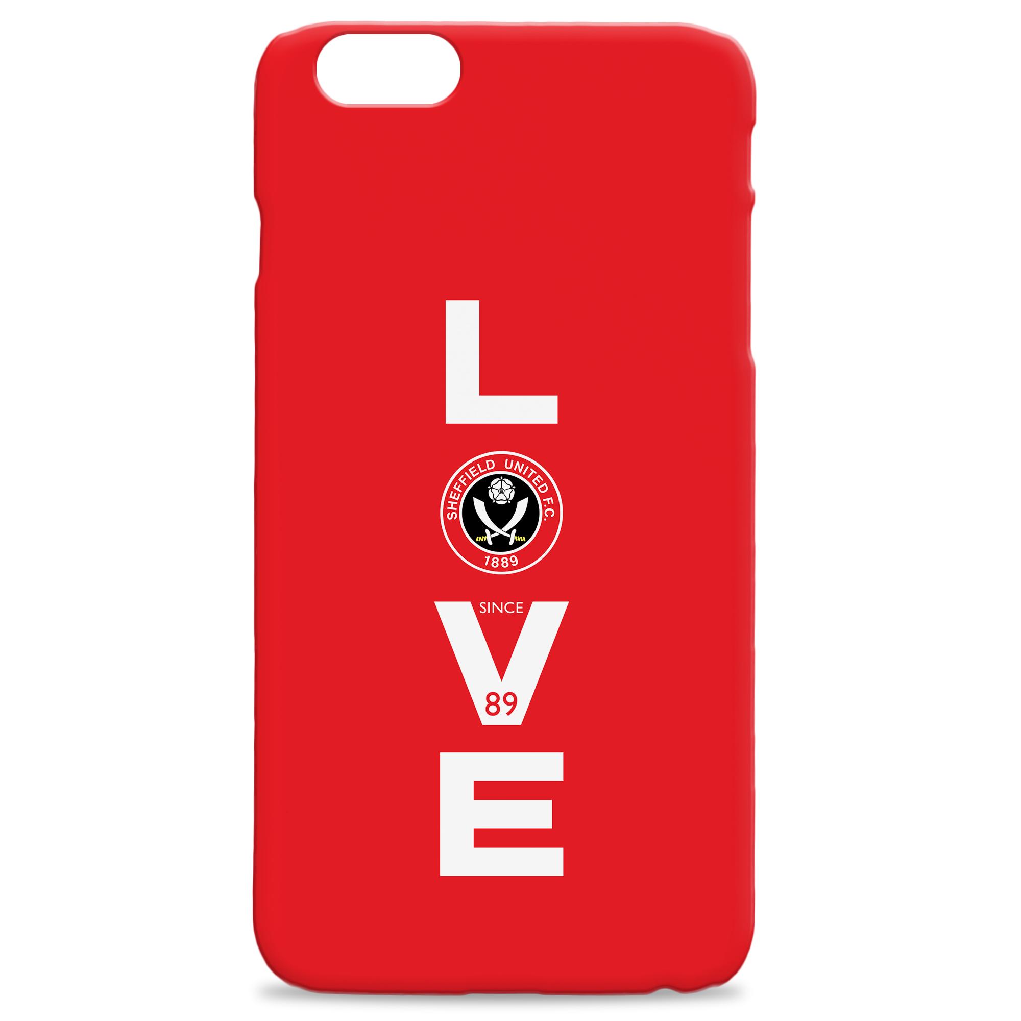 Sheffield United Love Hard Back Phone Case