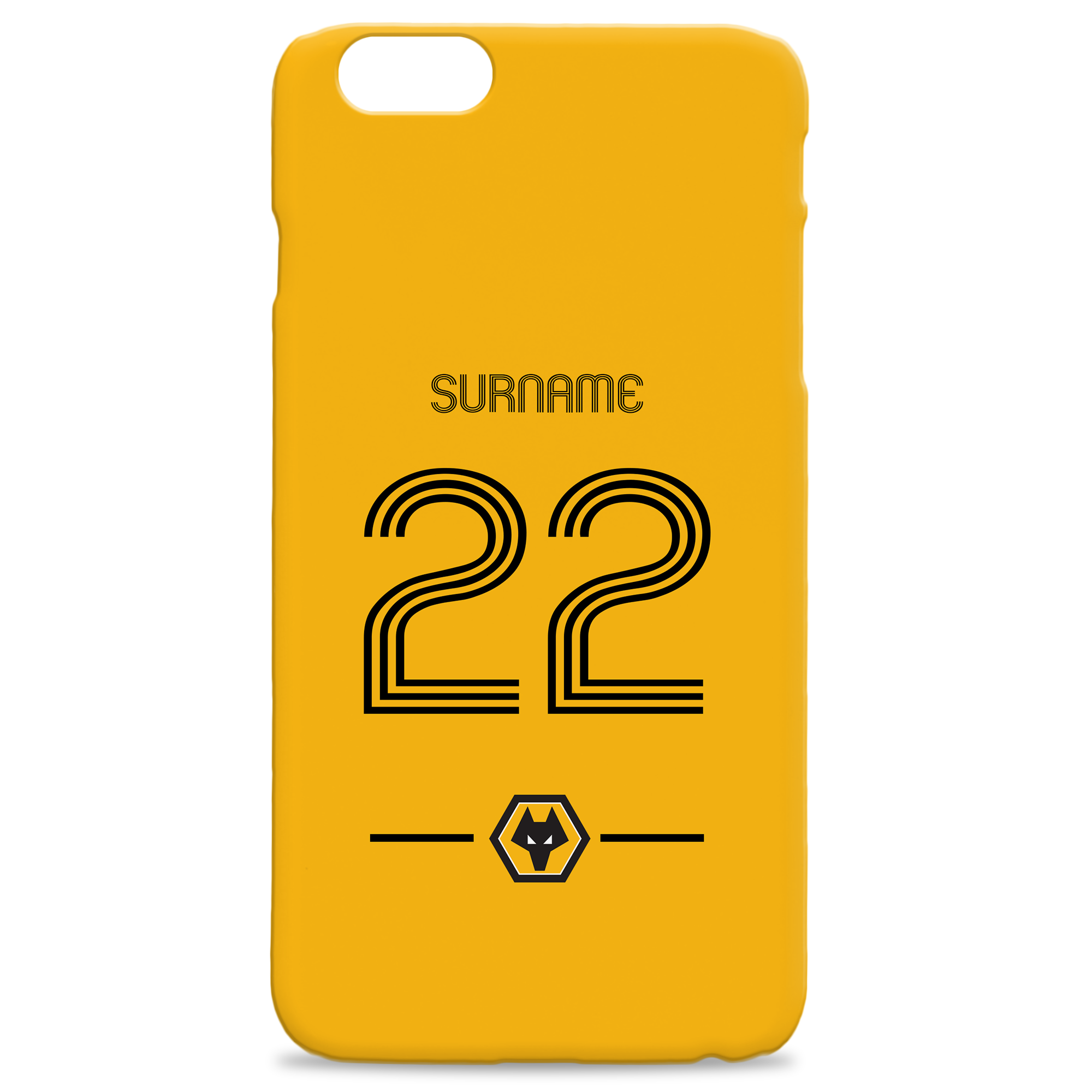 Wolverhampton Wanderers Retro Shirt Hard Back Phone Case