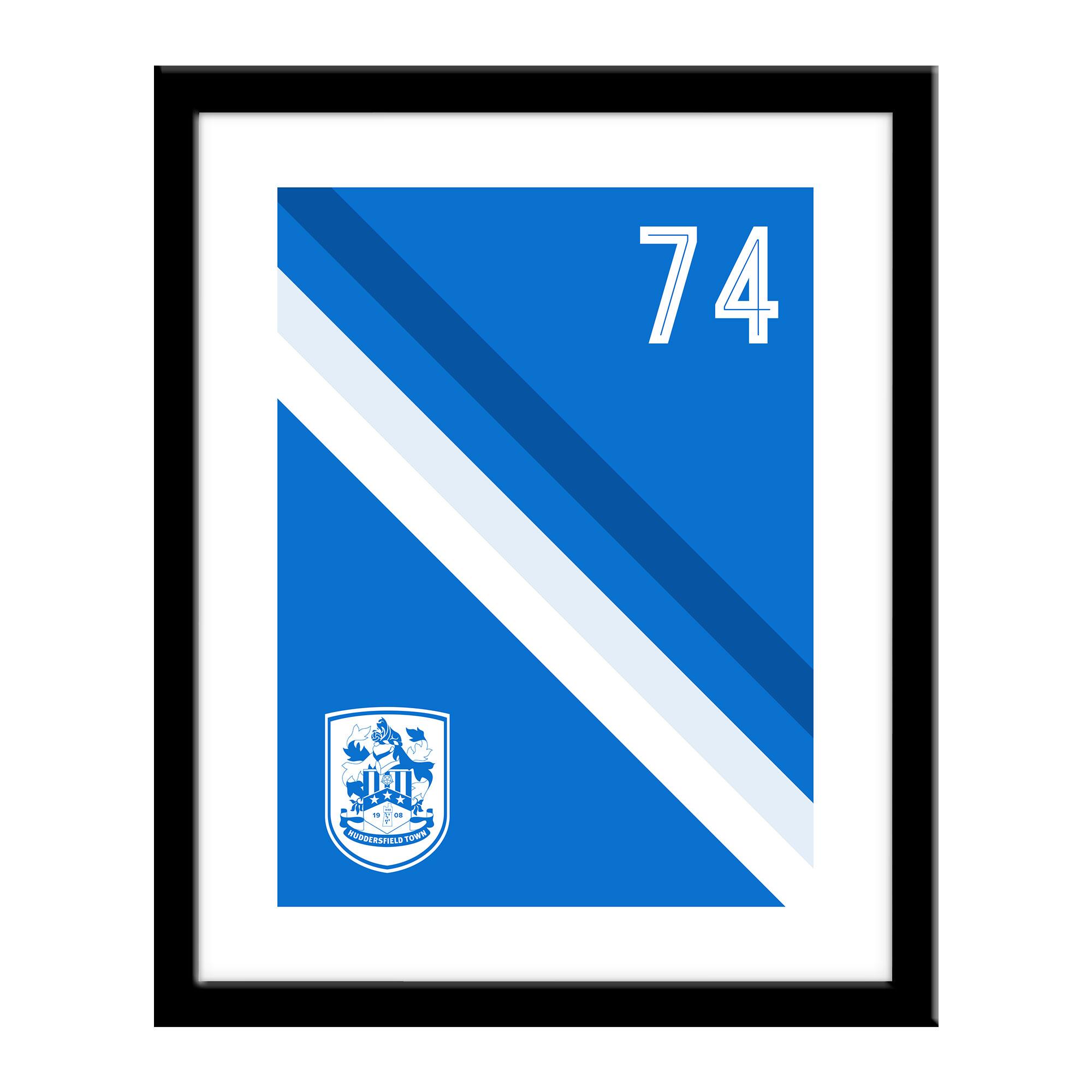 Huddersfield Town Stripe Print