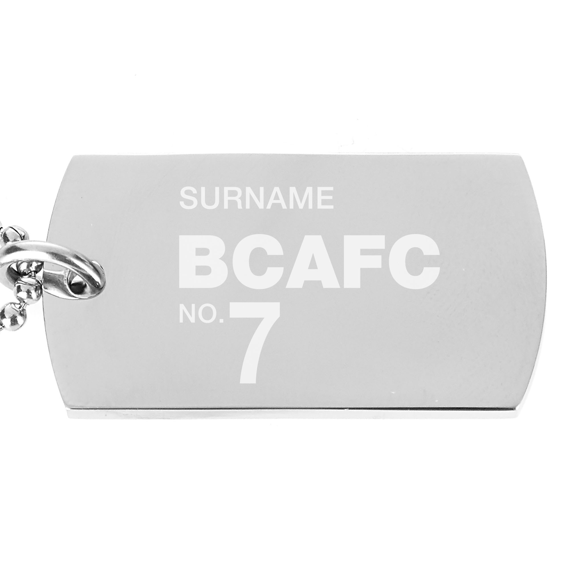 Bradford City AFC Number Dog Tag Pendant