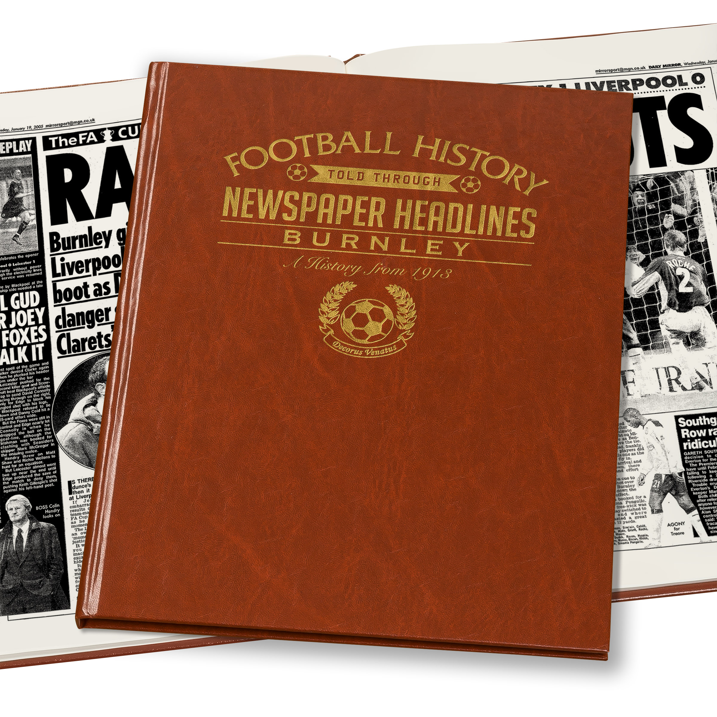 Burnley Football Newspaper Book