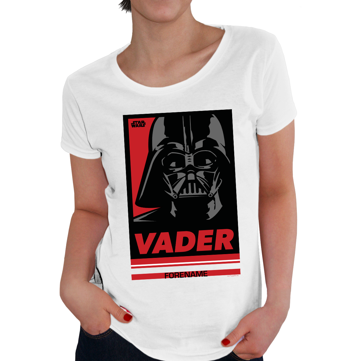 Star Wars Vader Pop Art Womens T-shirt