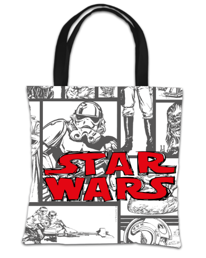 Star Wars Classic Grid Print Tote Bag