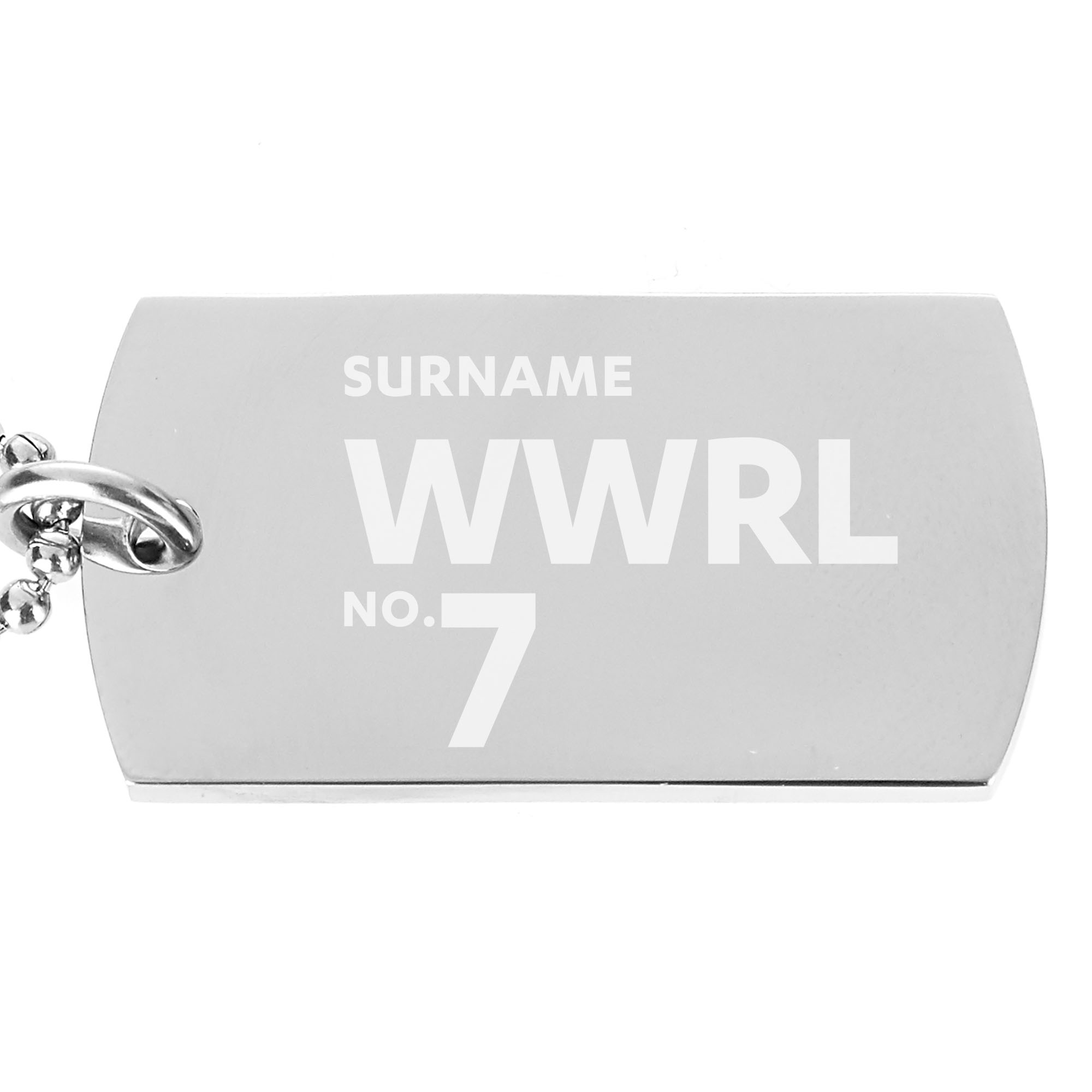 Wigan Warriors Number Dog Tag Pendant