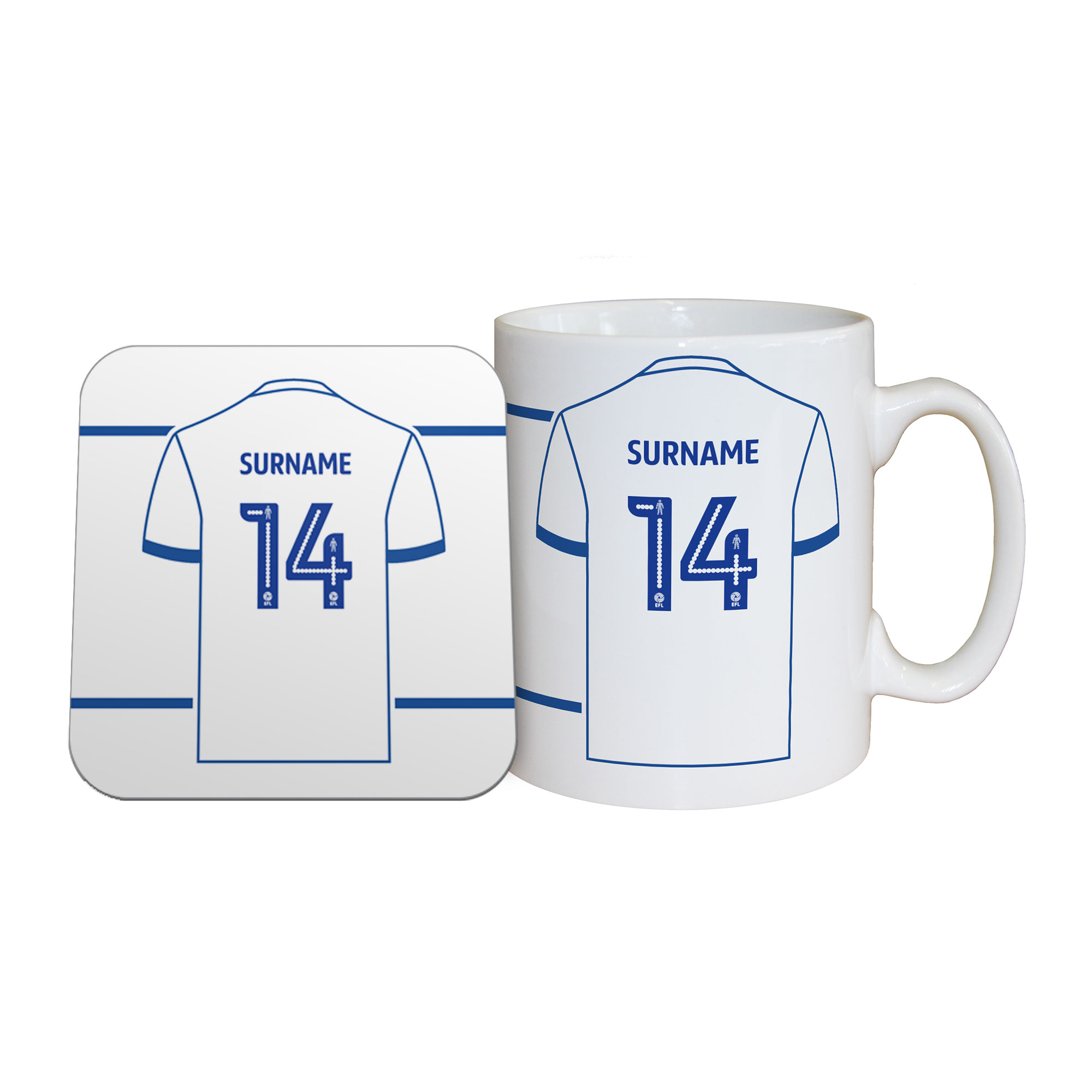 Bury FC Shirt Mug & Coaster Set